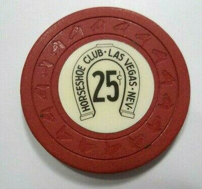 Horseshoe Club Casino Chips Hhl 25 Cent Chip Las Vegas Nevada
