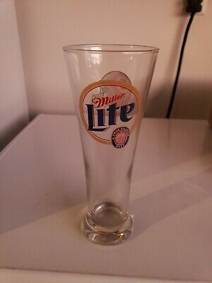 Miller Lite Washington Redskins Tall Pilsner Glass