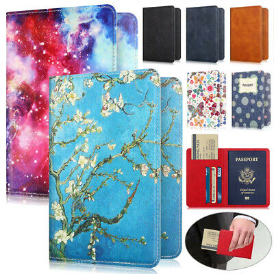 Protective ID Credit Card Ticket Passport Holder Wallet Slim Leather Case Cover