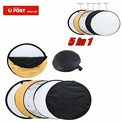 """AU Newest 110cm 43"""" 5 in 1 Photo Photography Light Mulit Collapsible Reflector"""