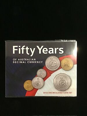 2016 Fifty Years 6 coin UNC Mint set