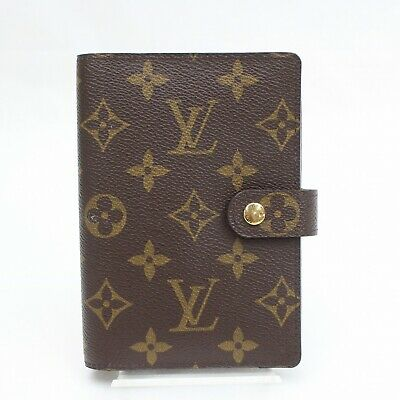Authentic Louis Vuitton Diary Cover Agenda PM Browns Monogram 1101777