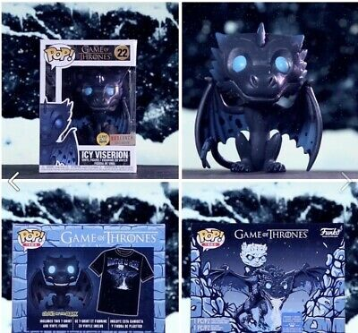 Funko Pop Game of Thrones ICY VISERION Pop & Tee Box Boxlunch Exclusive (L)