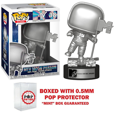 "Funko Pop Icons : MTV Moon Person #18  Vinyl w/0.5mm Case ""MINT""  (IN STOCK)"