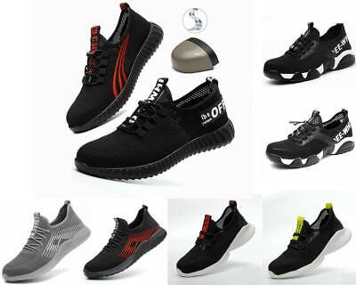 Lightweight Steel Toe Cap Safety Shoes Mens Womens Work Boots Hiking Trainers @