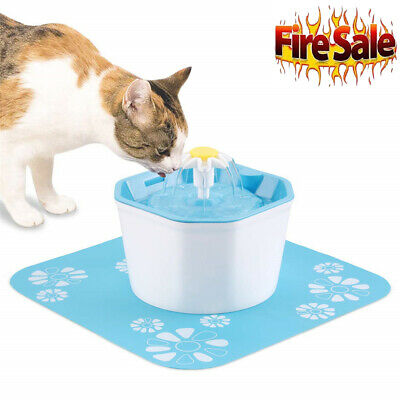 Pet Water Fountain Electric Water Dispenser For Cat Dog Automatic Three Modes BT