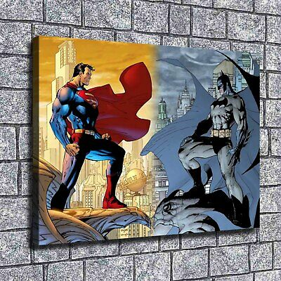 "12""x16""Batman vs Superman HD Canvas prints Painting Home decor Picture Room Wall"