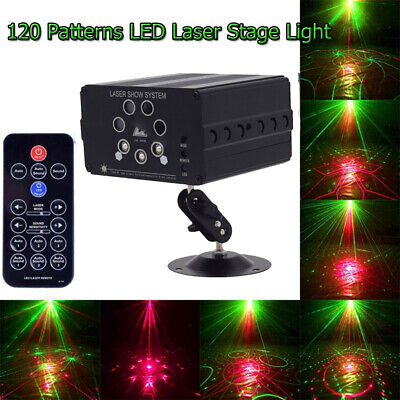 120 Patterns Projector LED Laser Stage Light Voice Control DJ Disco Xmas Lamps