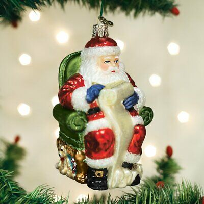 Old World Christmas Assortment Glass Blown Ornaments for Christmas Tree Santa Ch