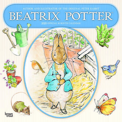 Beatrix Potter 2020 Square Wall Calendar by Browntrout 30 x 30cm Free Post