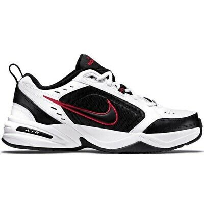 Nike Air Monarch IV 415445 101 Scarpe da Ginnastica Uomo White Black Red