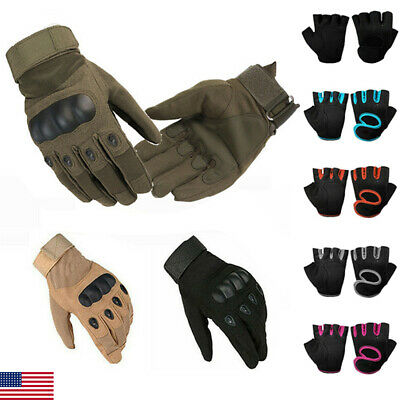 US Tactical Rubber Knuckle Full & Half Gloves Army Military Combat SAS Security