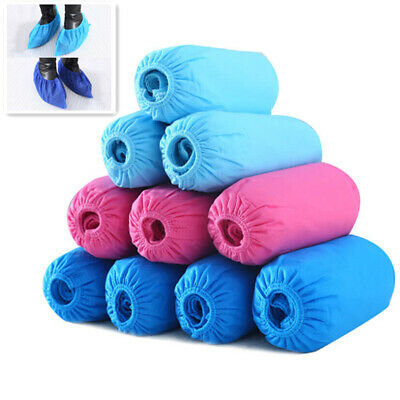 100pcs Disposable Shoe Covers Non-woven Fabrics Boot Non-Slip Covers Protective