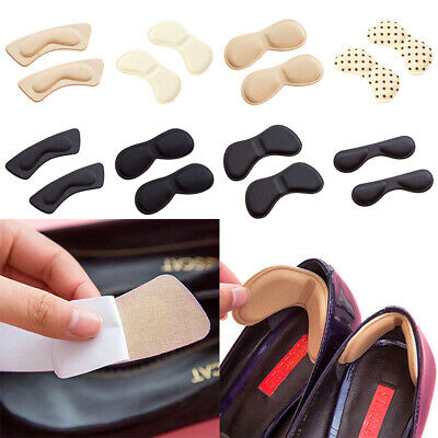 2 Pairs Sticky Shoe Back Heel Pads Liners Inserts Cushion Grip Padding Foam AU