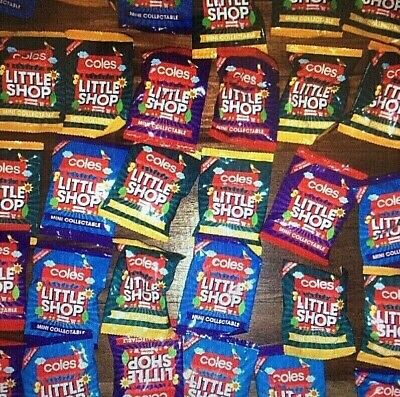 Coles Little Shop Mini Collectables <=+=> 25 Unopened 1St Edition Minis