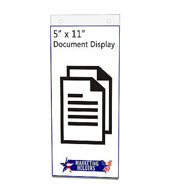 "Sign Holder Ad Frame 5""W x 11""H Wall Mount with Mounting Holes"