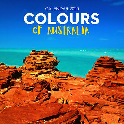 Colours of Australia 2020 Square Wall Calendar by Browntrout 30 x 30cm Free Post
