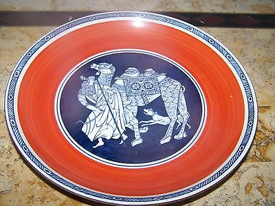 """Oriental Japanese Chinese Moroccan Middle East 10"""" Orange Blue Camel Plate"""