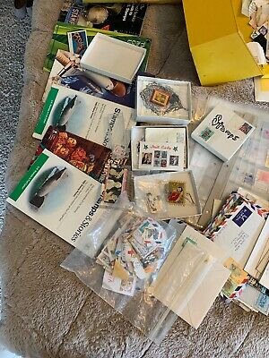 STAMPS OLD U.S. & Foreign COLLECTION LOT HUNDREDS OF OLD STAMPS FOUND IN CLOSET