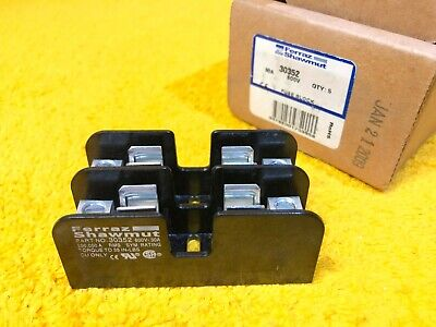 New Ferraz Shawmut 30352 600 Vac 30 Amp 2-Pole Fuse Holder Block Class Cc