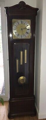 Superb Gustav Becker Grandfather Longcase Clock Whittington / Westminster Lancs