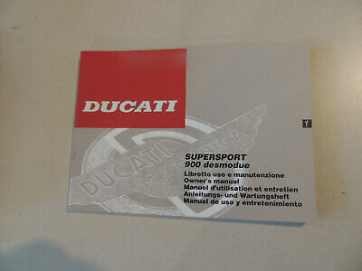 Fahrerhandbuch Ducati 900 Supersport desmodue 1995  owner`s manual