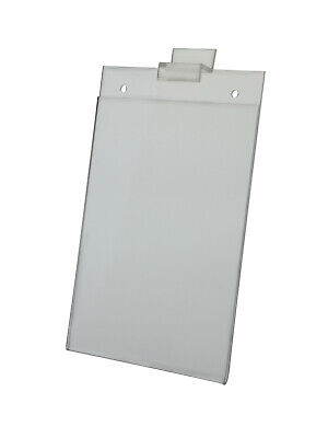 "Slat-Wall Sign Holder Ad Frame 5""W x 7""H Vertical Mount"