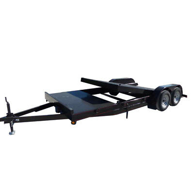Utility Trailer 7'x16' Tilt Bed Steel Floor Car Hauler