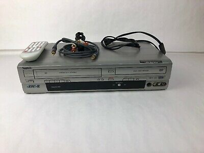 Symphonic Funai WFR205 DVD & VCR Player with Factory Remote + RCA Cables