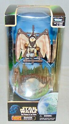 New 1998 Kenner Star Wars Power Of The Force Complete Galaxy Endor With Ewok