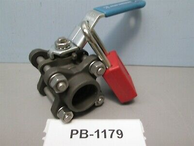 "NELES-JAMESBURY 3/4"" Ball Valve W/lockout 3C-2236MT-3 New Old Stock"