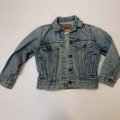 Levis Made in USA Vintage Kids Trucker Jacket sz 8