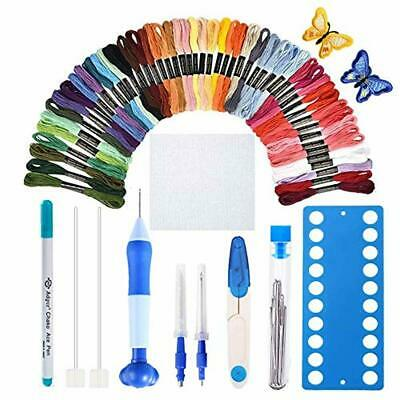 [Latest Model] Magic Embroidery Pen Set,Punch Needle Kit for Embroidery with Clo