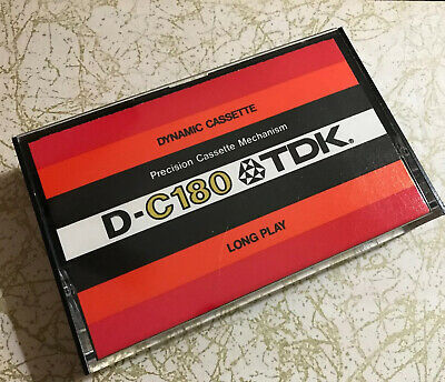 TDK D-C180  Japan 1977 Long Play Blank Cassette Tape
