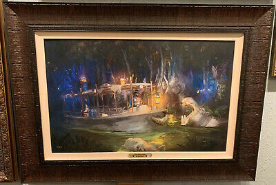 Disney Parks The Drive Home Famous Jungle Cruise Framed LE Giclee by Joel Payne
