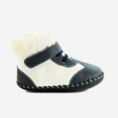 UK Sale Baby Boys Girls children infant Ankle Boot real Leather soft sole FARAH