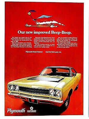 Vintage 1968 Plymouth Dealer Road Runner Beep Beep Sweepstakes Entry Form Mopar