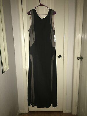 NW Woman Black and Nude Long Dress New with Tags 20W