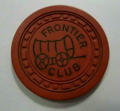 Frontier Club $.25 Cent Casino Chip Las Vegas Nevada Downtown NV