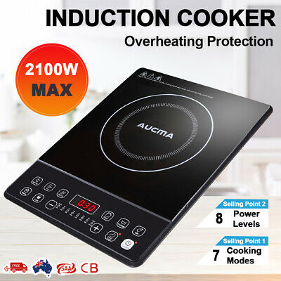 Electric Induction Cooktop Hot Plate Portable Kitchen Cooker Ceramic Glass Stove