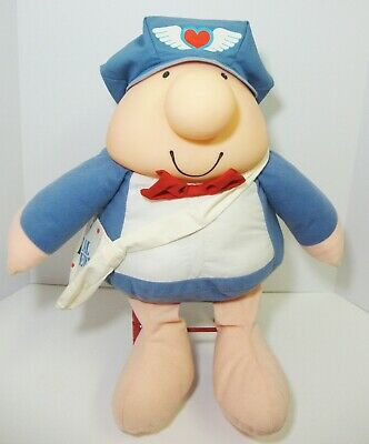 Vintage Ziggy Doll Plush Special Delivery Mailman 18""