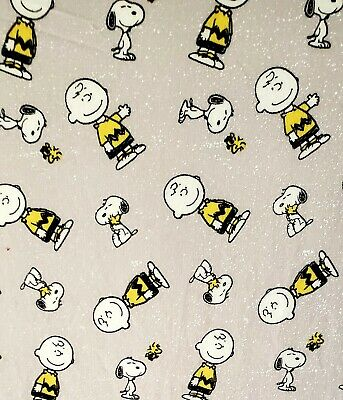 Charlie Brown And Snoopy Crib Or Toddler Bed Fitted Cotton Sheet,  Handmade