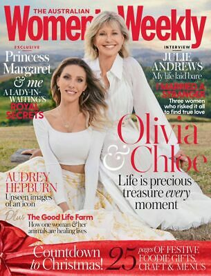 Olivia Newton John & Chloe The Australian Women's Weekly Magazine December 2019