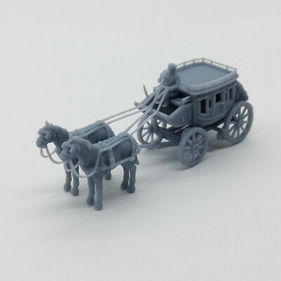 Outland Models Scenery Old West Carriage / Wagon - Luxury Wagon 1:87 HO Gauge