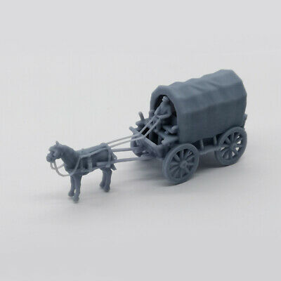 Outland Models Scenery Vehicle Old West Carriage / Wagon - Caravan 1:87 HO Gauge