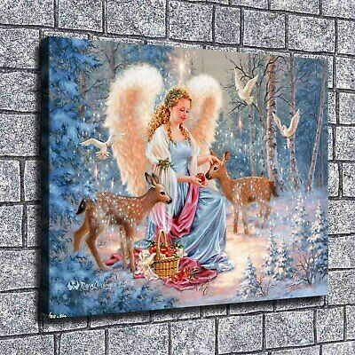 "12""x16""A beautiful angel Paintings Print on Canvas Home Decor Wall Art Pictures"