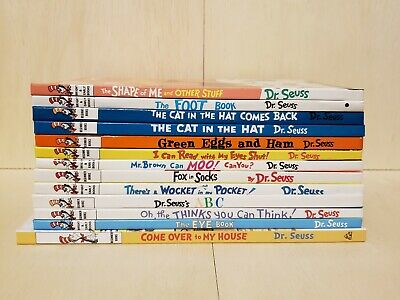 Lot of 13 Dr. Seuss Beginner/Bright & Early Hardcover Books (all by Dr. Seuss)