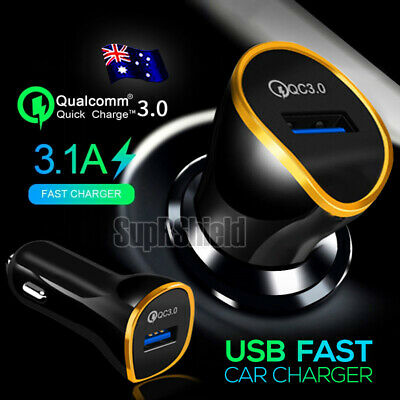 Qualcomm QC3.0 Fast Charging Car Charger Cigarette Lighter Socket Adapter Plug