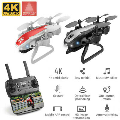 KY909 Foldable Drone with Dual Camera 4K HD WiFi FPV Optical-Flow RC Qudcopter