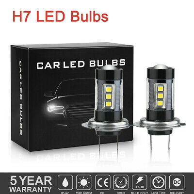 H7 Car LED Fog lights 160W Headlight Bulbs Kit 6000k HID Decoder Fog Bulbs White